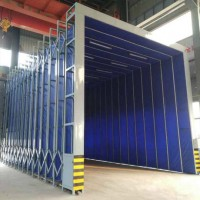 自动伸缩房 伸缩移动喷漆房 大型喷漆房设备厂家